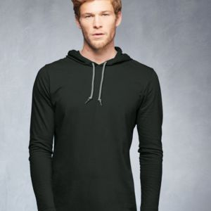 Lightweight Long Sleeve Hooded T-Shirt Thumbnail