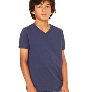 Youth Short Sleeve V-Neck Jersey Tee Thumbnail
