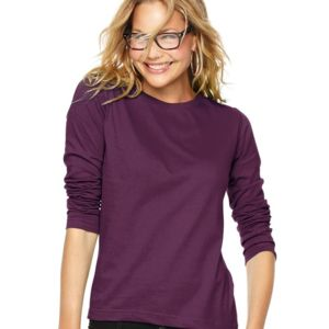Women's Long Sleeve Premium Jersey Tee Thumbnail