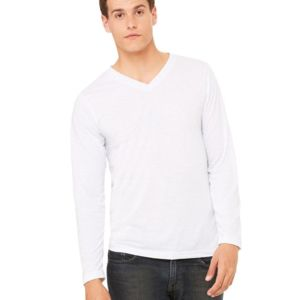 Unisex Long Sleeve V-Neck Tee Thumbnail