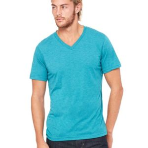 Unisex Triblend Short Sleeve V-Neck Tee Thumbnail