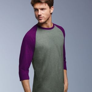 Triblend Raglan Three-Quarter Sleeve T-Shirt Thumbnail