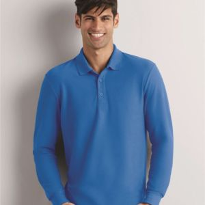 DryBlend® Double Pique Long Sleeve Sport Shirt Thumbnail