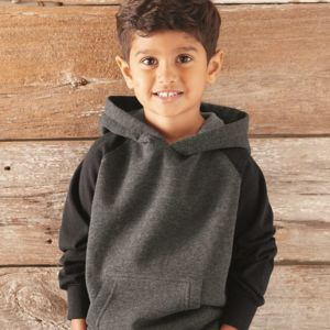 Toddler Special Blend Raglan Hooded Pullover Sweatshirt Thumbnail