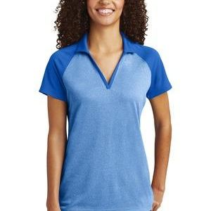 ® Ladies PosiCharge ® RacerMesh ® Raglan Heather Block Polo Thumbnail