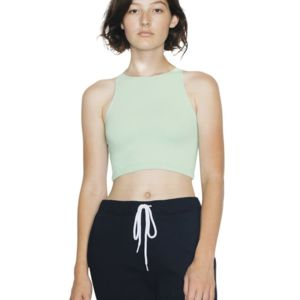 Women's Cotton Spandex Sleeveless Crop Top Thumbnail