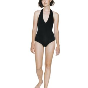 Women's Cotton Spandex Halter Bodysuit Thumbnail