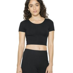 Women's Cotton Spandex Crop top Thumbnail