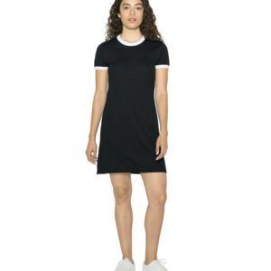 Women's Poly/Cotton Ringer T-Shirt Dress Thumbnail