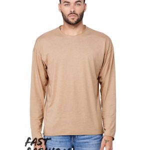 Fast Fashion Unisex Triblend Raw Neck Long Sleeve Tee Thumbnail