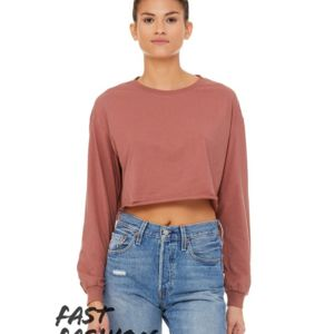 Fast Fashion Women's Cropped Long Sleeve Tee Thumbnail