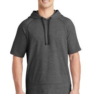 ® PosiCharge ® Tri Blend Wicking Fleece Short Sleeve Hooded Pullover Thumbnail