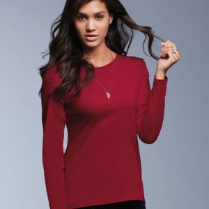 Women's Lightweight Ringspun Long Sleeve Tee Thumbnail
