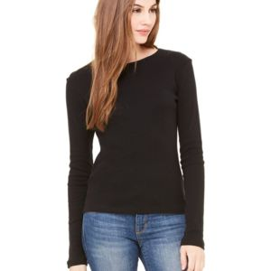 Women's Baby Rib Long Sleeve Tee Thumbnail