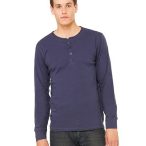 Long Sleeve Jersey Henley Thumbnail