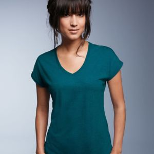 Women's Triblend V-Neck Tee Thumbnail