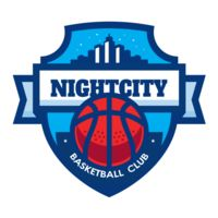 Night city Basketball club logo template Thumbnail