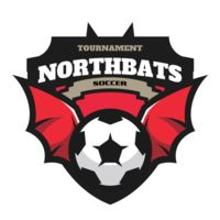North bats Tournament Soccer logo template Thumbnail