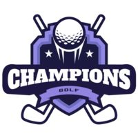 Champions Golf logo template Thumbnail