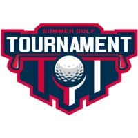 Tournament Summer golf logo template Thumbnail