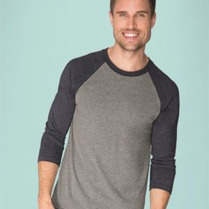 Unisex Tri-Blend Three-Quarter Sleeve Raglan Tee Thumbnail