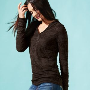 Women's Burnout Hooded Pullover Thumbnail